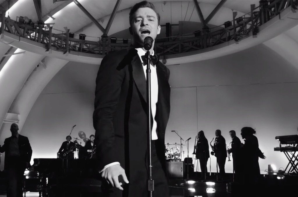 Justin Timberlake in the video for Suit and Tie