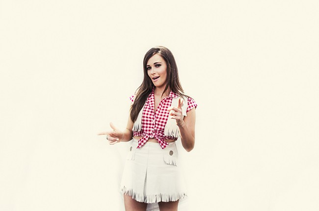Kacey Musgraves backstage at iHeartRadio 2014