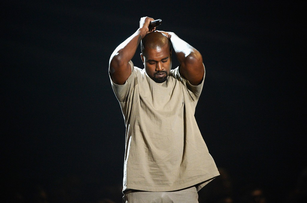 Kanye West speaks onstage during the 2015 MTV Video Music Awards at Microsoft Theater on Aug. 30, 2015 in Los Angeles.