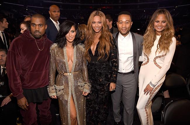 Kanye West, Kim Kardashian West, Beyonce, John Legend and Chrissy Teigen