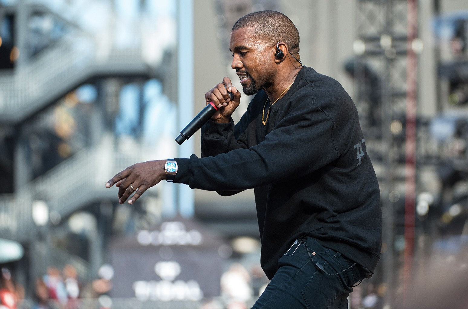 Kanye West performs at Chance the Rapper's Magnificent Coloring Day