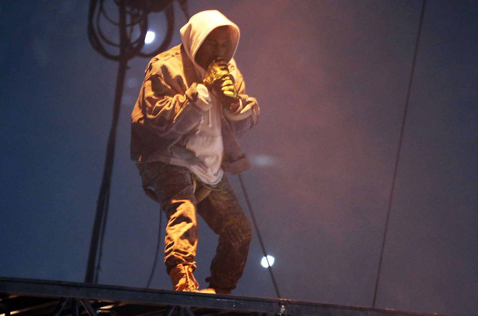 Kanye West performs during The Saint Pablo Tour