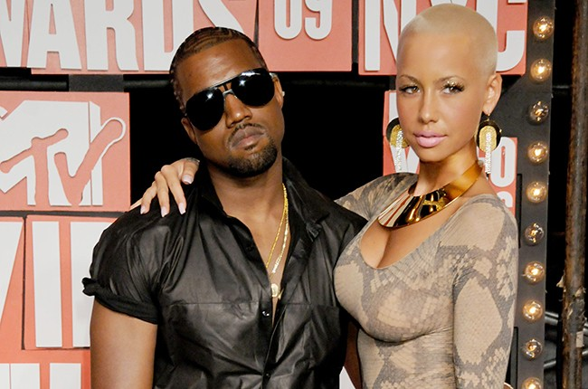 Amber Rose and Kanye West at the MTV Video Music Awards.