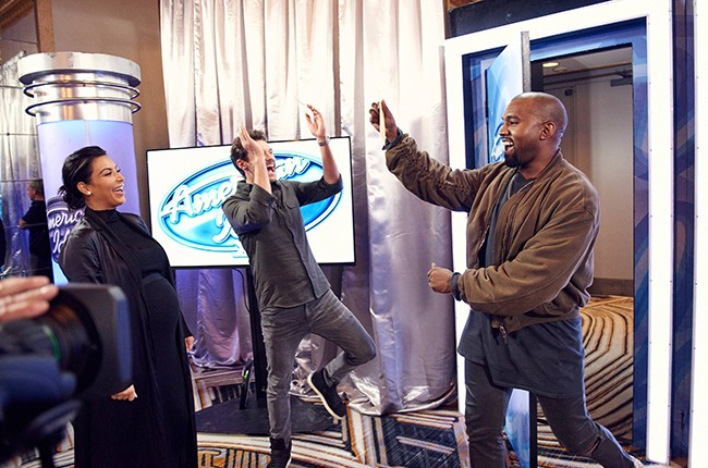 Kanye West surpises the Judges and Ryan on American Idol