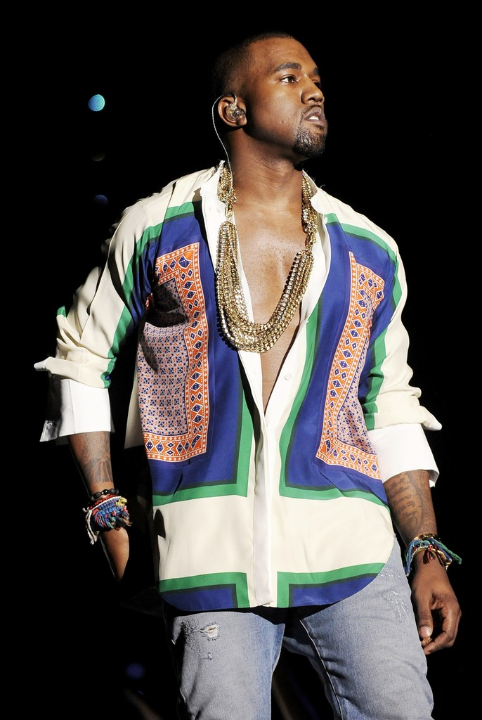 Kanye West performs as part of the 2011 Coachella Valley Music & Arts Festival at the Empire Polo Field on April 17, 2011 in Indio, Calif.