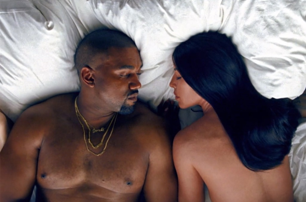 "Kanye West's video for ""Famous."""