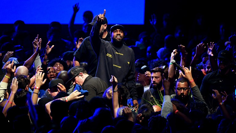 <p>Kanye West performs onstage during his &quot&#x3B;Jesus Is King&quot&#x3B; album and film experience at The Forum on Oct. 23, 2019 in Inglewood, Calif.</p>