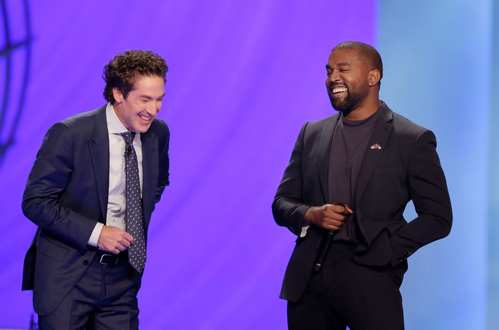 Kanye West and Sr. Pastor Joel Osteen