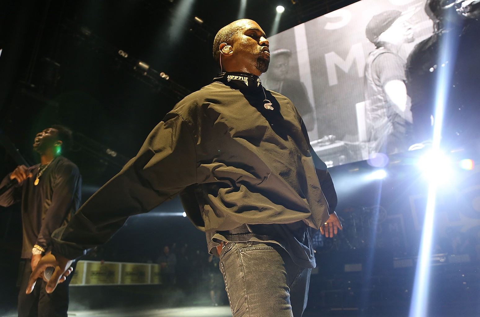 Kanye West performs at the 2016 Hot 97 Summer Jam