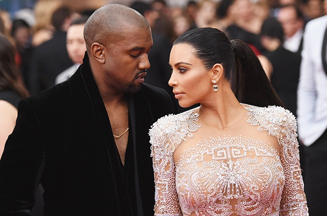 Kanye West and Kim Kardashian 2016