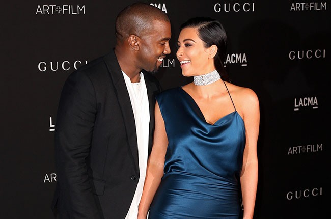 Kanye West and Kim Kardashian, 2014.