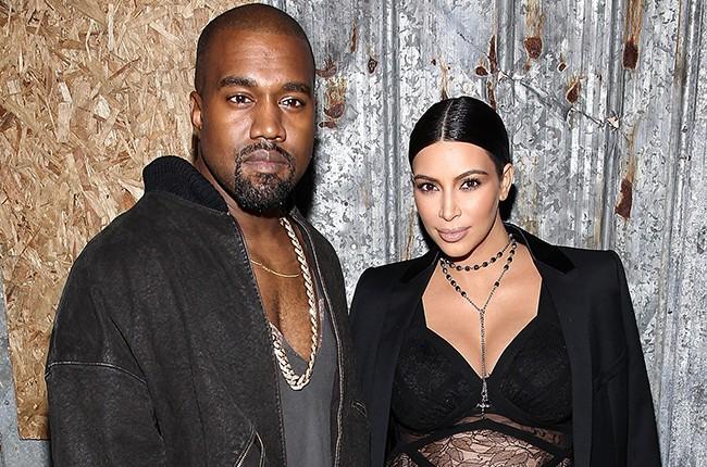 Kanye West and Kim Kardashian 2015