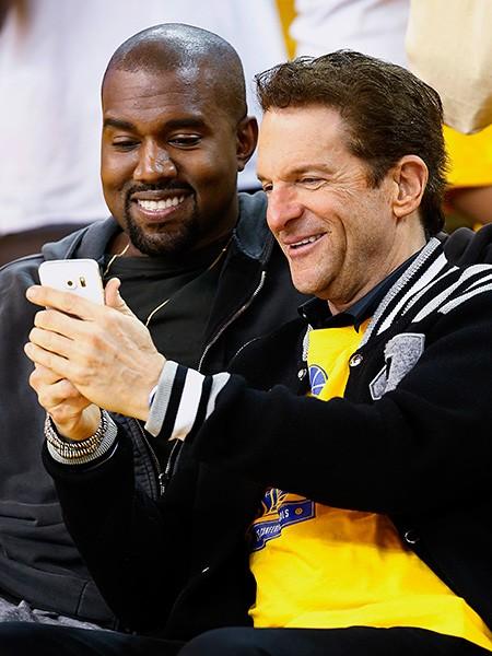 Kanye West and Peter Guber