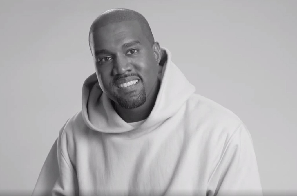 Kanye West during an interview with W Magazine.