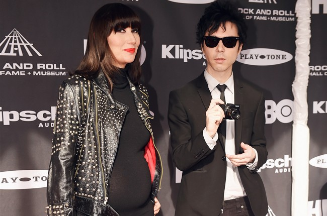 Karen O and Nick Zinner of Yeah Yeah Yeahs and attends the 30th Annual Rock And Roll Hall Of Fame Induction Ceremony