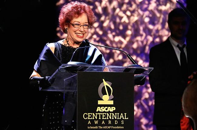 Karen Sherry, ASCAP Foundation Executive Director speaks onstage at the ASCAP Centennial Awards 2015