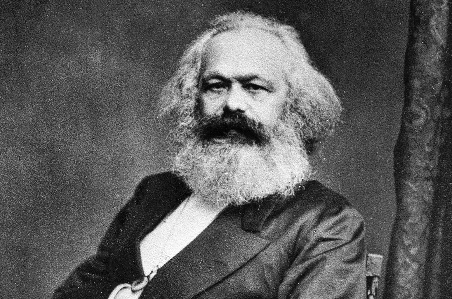 Karl Marx photographed circa 1865.