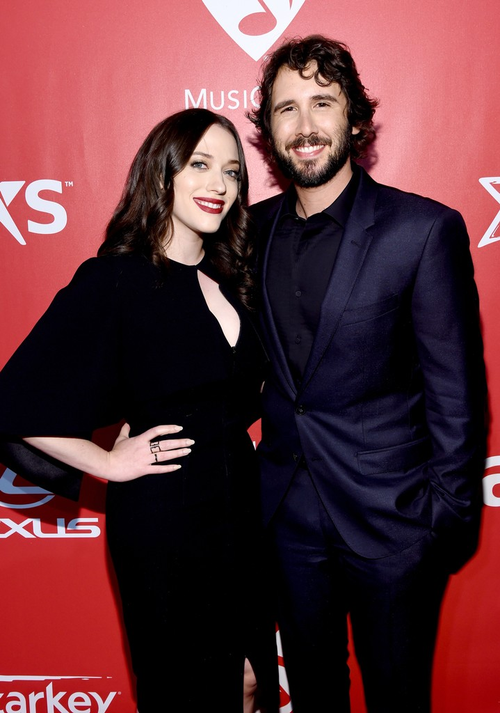 Kat Dennings and Josh Groban attend the 25th anniversary MusiCares 2015 Person Of The Year Gala honoring Bob Dylan at the Los Angeles Convention Center on Feb. 6, 2015 in Los Angeles.