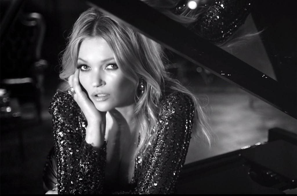 """Kate Moss in the video for """"The Wonder of You"""" by Elvis."""