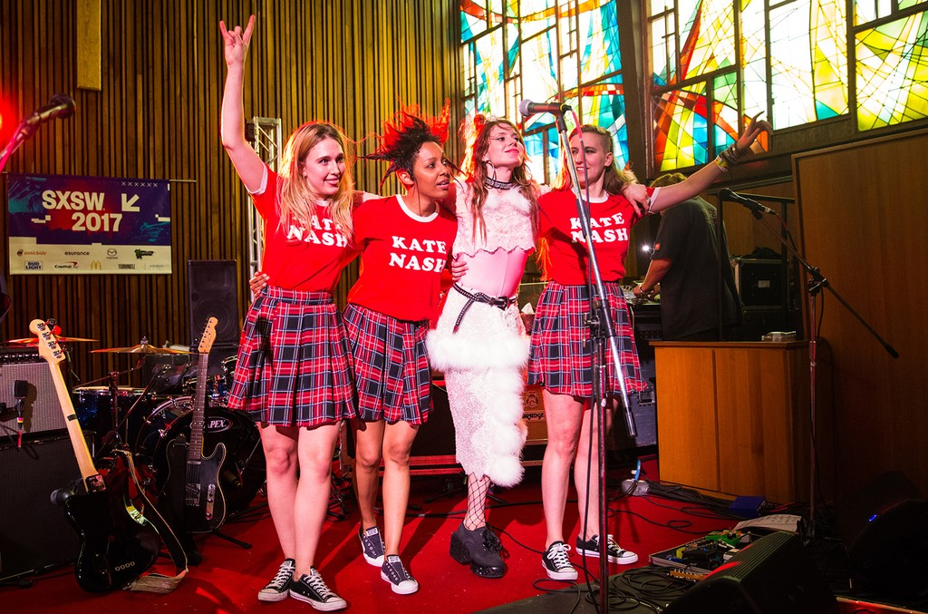 Kate Nash performs at the Central Presbyterian Church on March 16, 2017 in Austin, Texas.