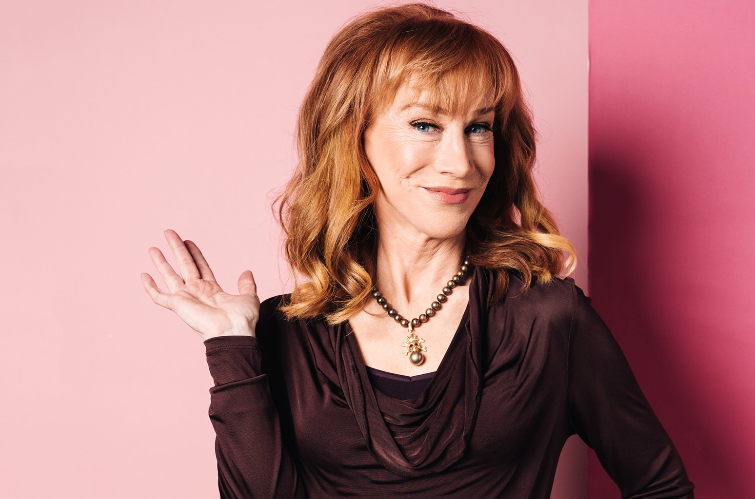 Kathy Griffin photographed at The Wrap studios on March 7, 2017 in Los Angeles.