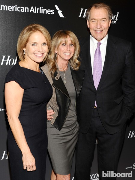 Katie Couric, from left, Bonnie Hammer and Charlie Rose attend The 35 Most Powerful People in Media hosted by The Hollywood Reporter