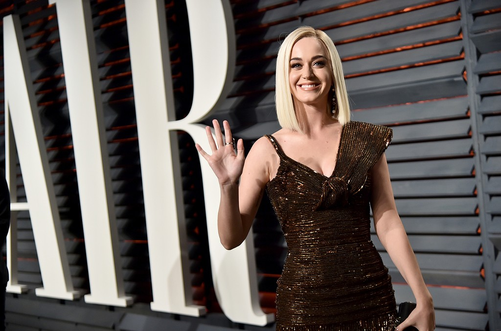 Katy Perry attends the 2017 Vanity Fair Oscar Party hosted by Graydon Carter at Wallis Annenberg Center for the Performing Arts on Feb. 26, 2017 in Beverly Hills, Calif.