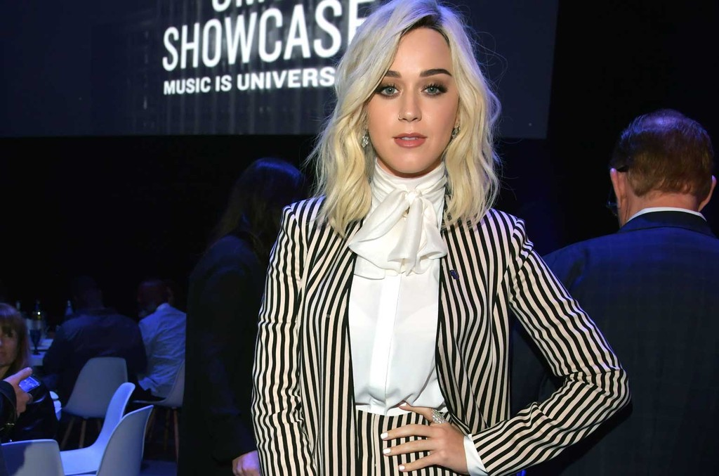 Katy Perry attends Sir Lucian Grainge's 2017 Artist Showcase presented by American Airlines and Citi at Ace Hotel on Feb. 11, 2017 in Los Angeles.
