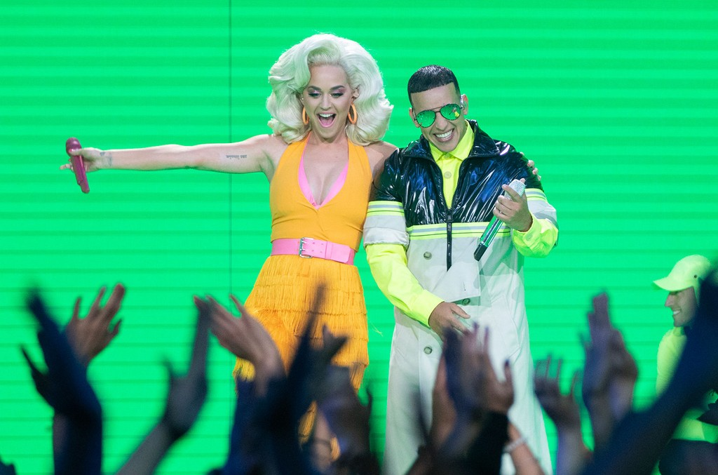 Katy Perry and Daddy Yankee on American Idol.