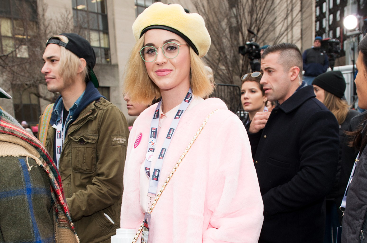 Katy Perry attends the Women's March on Washington on Jan. 21, 2017 in Washington, DC.