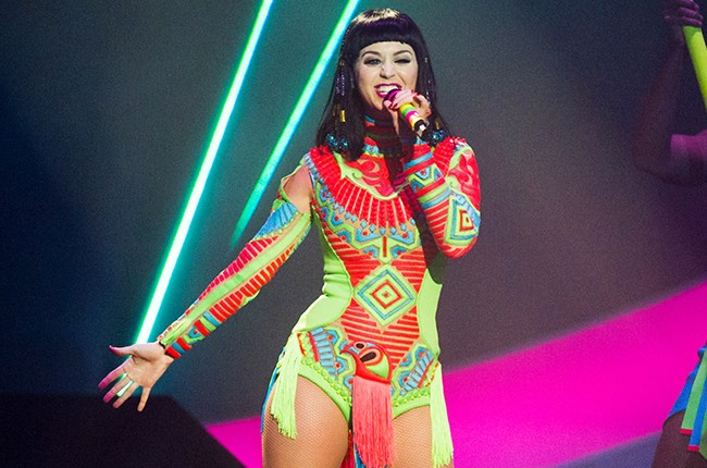 Katy Perry performs live onstage at The BRIT Awards