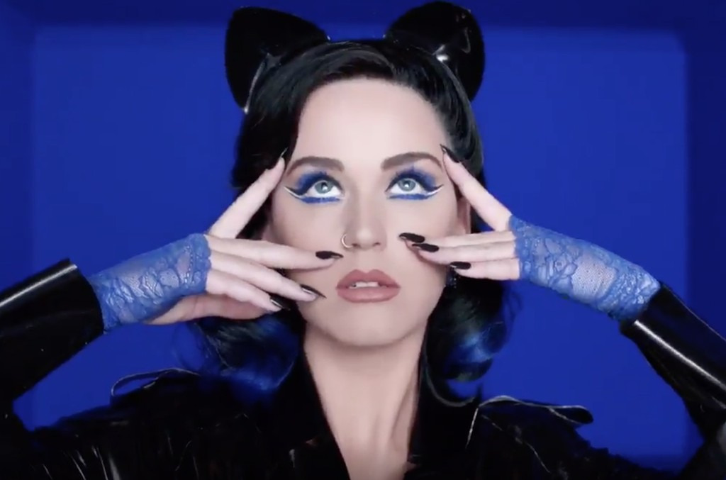Katy Perry in her CoverGirl commercial.