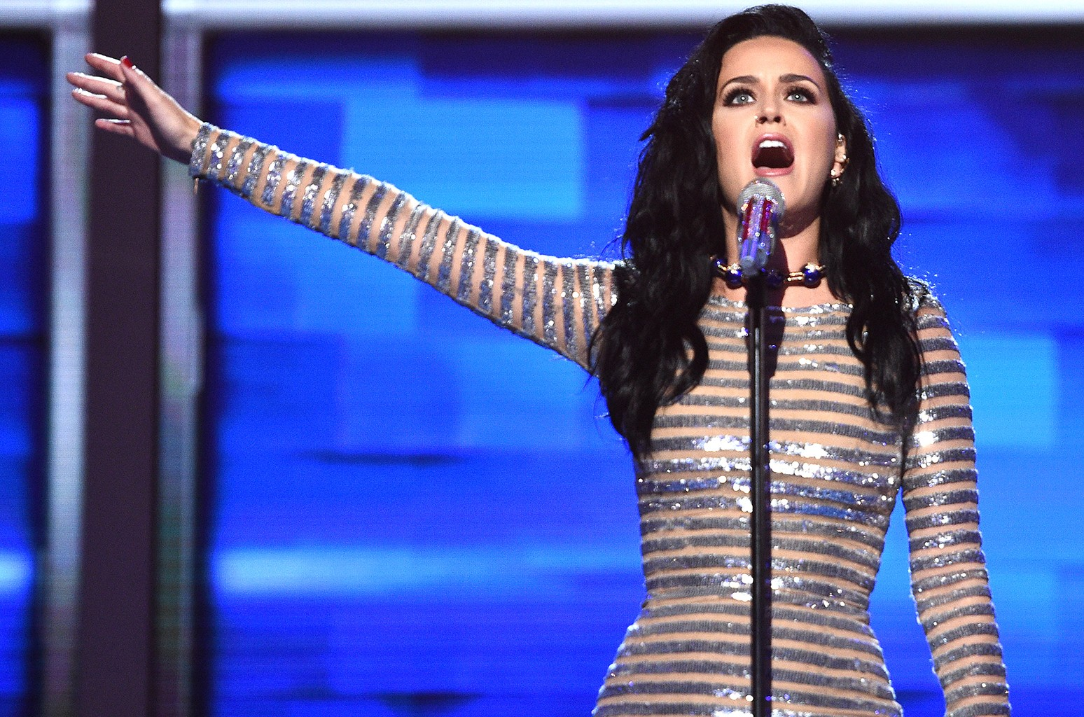 Katy Perry performs at the DNC