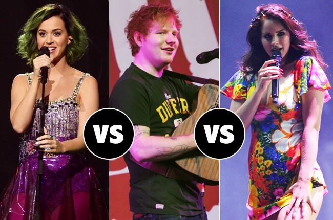 Katy Perry vs Ed Sheeran vs Lana Del Rey