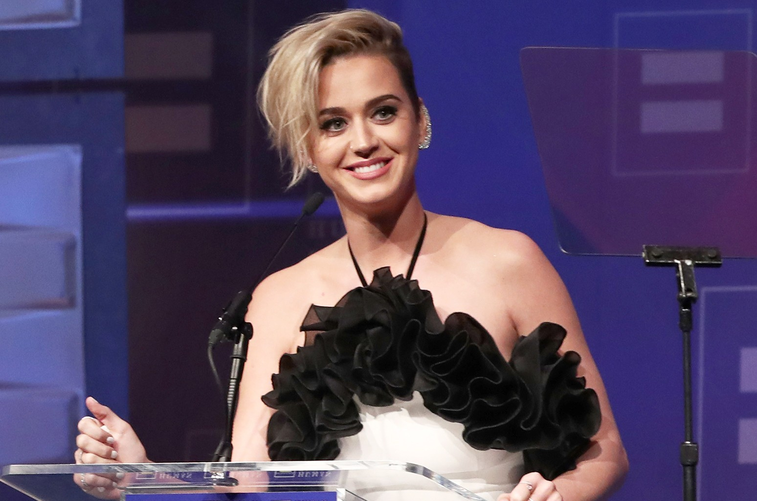 Honoree Katy Perry accepts the HRC National Equality Award onstage the Human Rights Campaign's 2017 Los Angeles Gala Dinner at JW Marriott Los Angeles at L.A. LIVE on March 18, 2017 in Los Angeles.