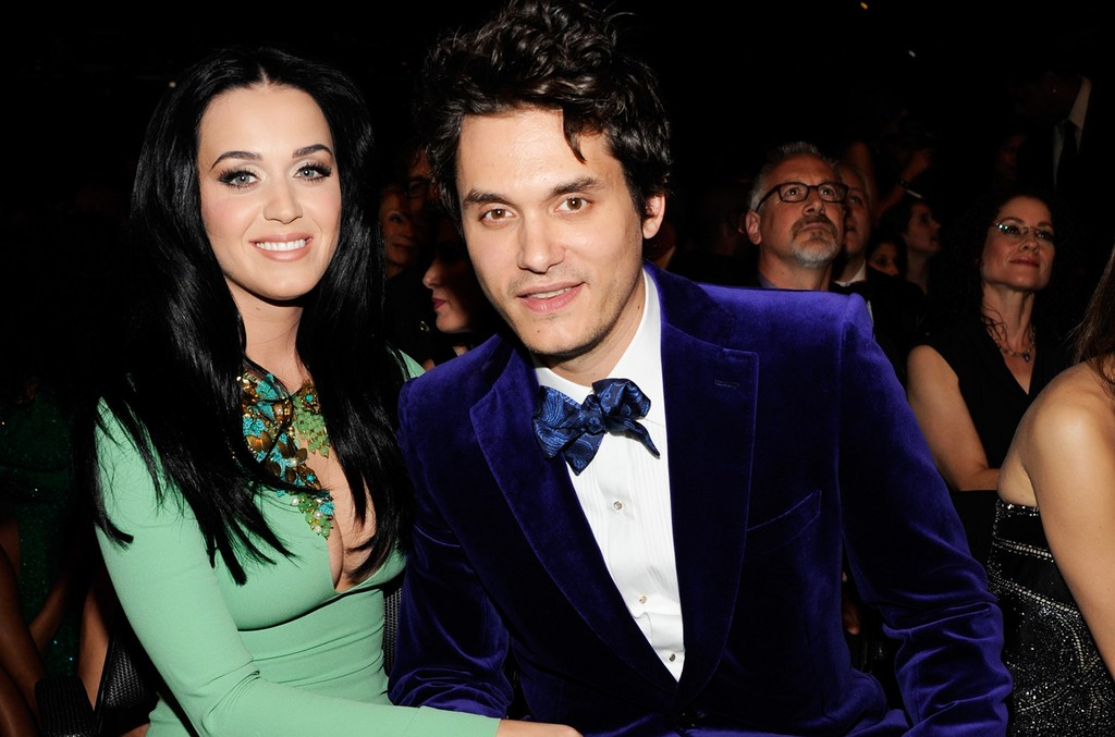 Katy Perry and John Mayer attends the 55th Annual Grammy Awards at Staples Center on Feb. 10, 2013 in Los Angeles.