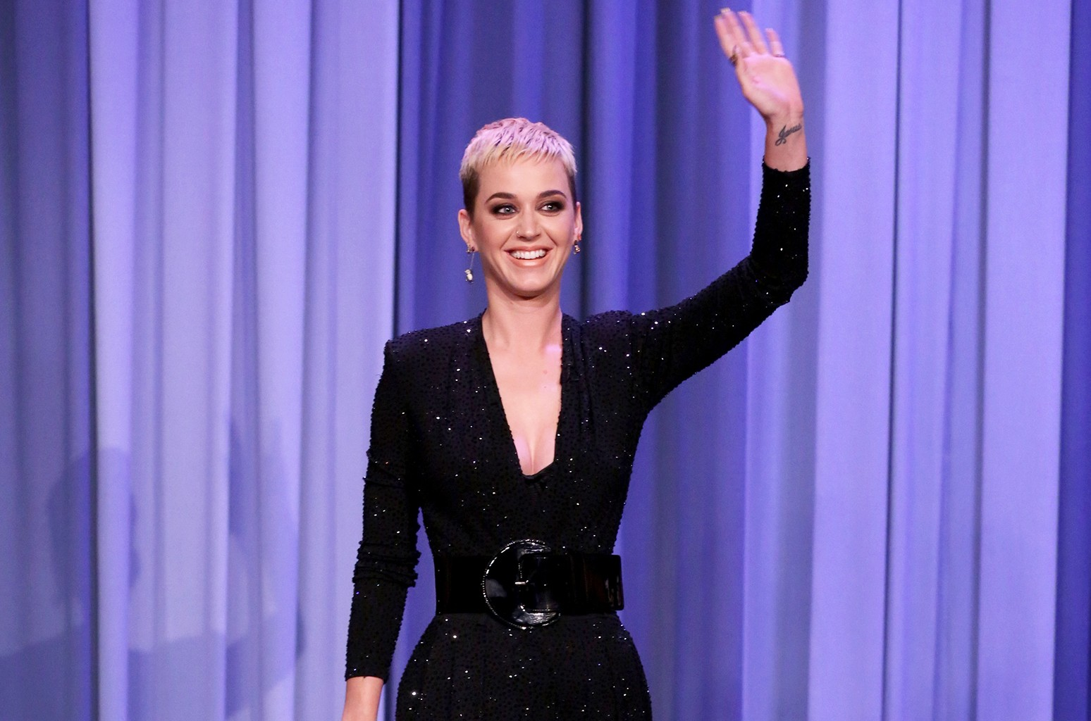 Katy Perry on The Tonight Show Starring Jimmy Fallon on May 19, 2017.