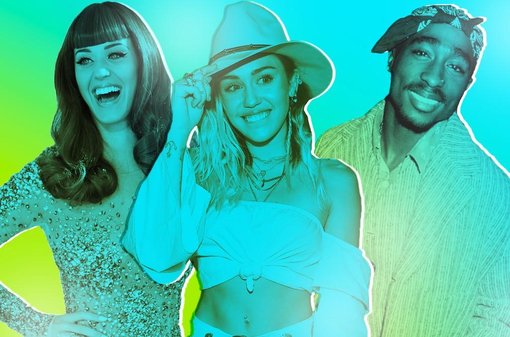 Katy Perry, Miley Cyrus, Tupac