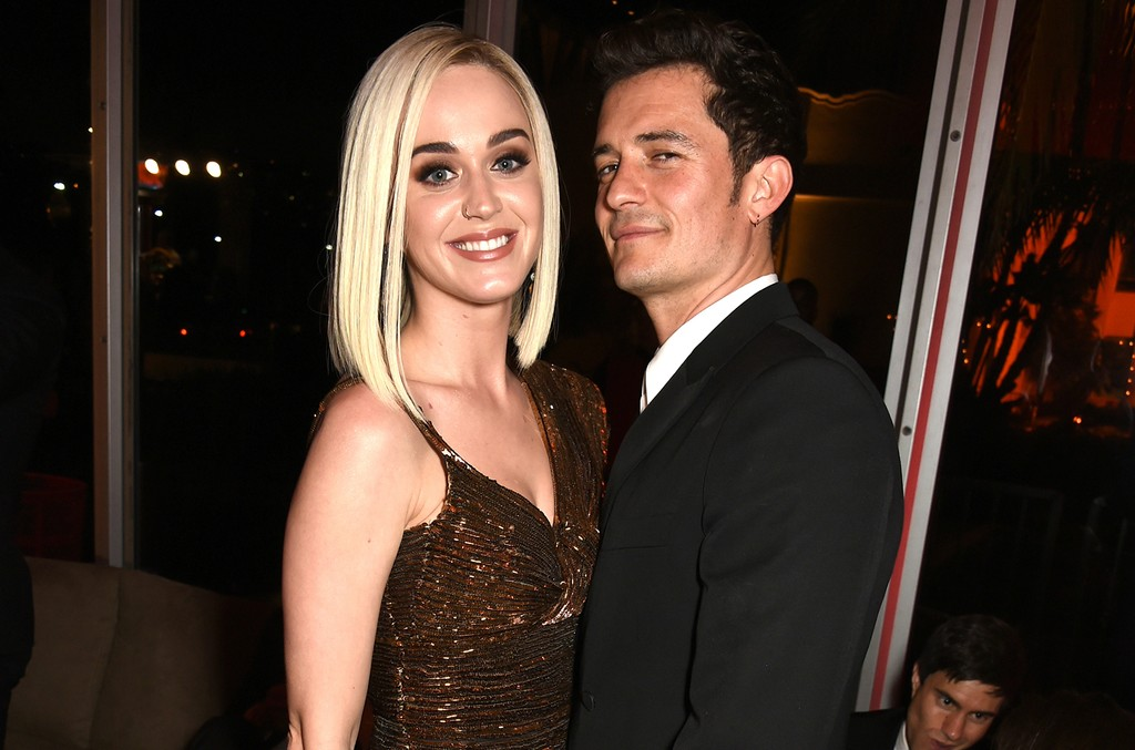 Katy Perry and Orlando Bloom attend the 2017 Vanity Fair Oscar Party hosted by Graydon Carter at Wallis Annenberg Center for the Performing Arts on Feb. 26, 2017 in Beverly Hills, Calif.