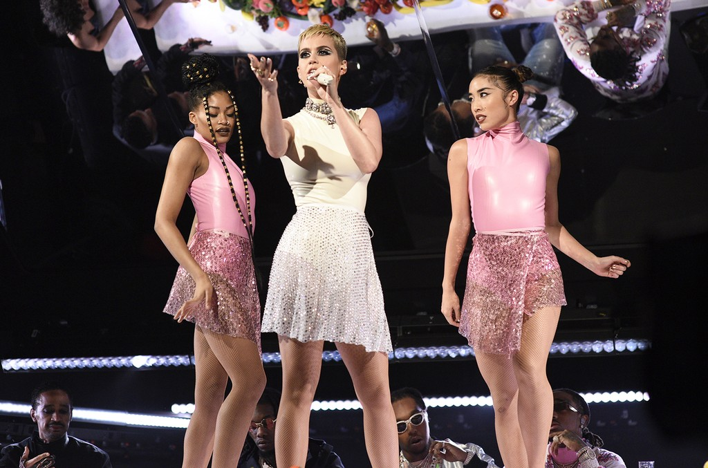 Katy Perry performs on Saturday Night Live on May 20, 2017