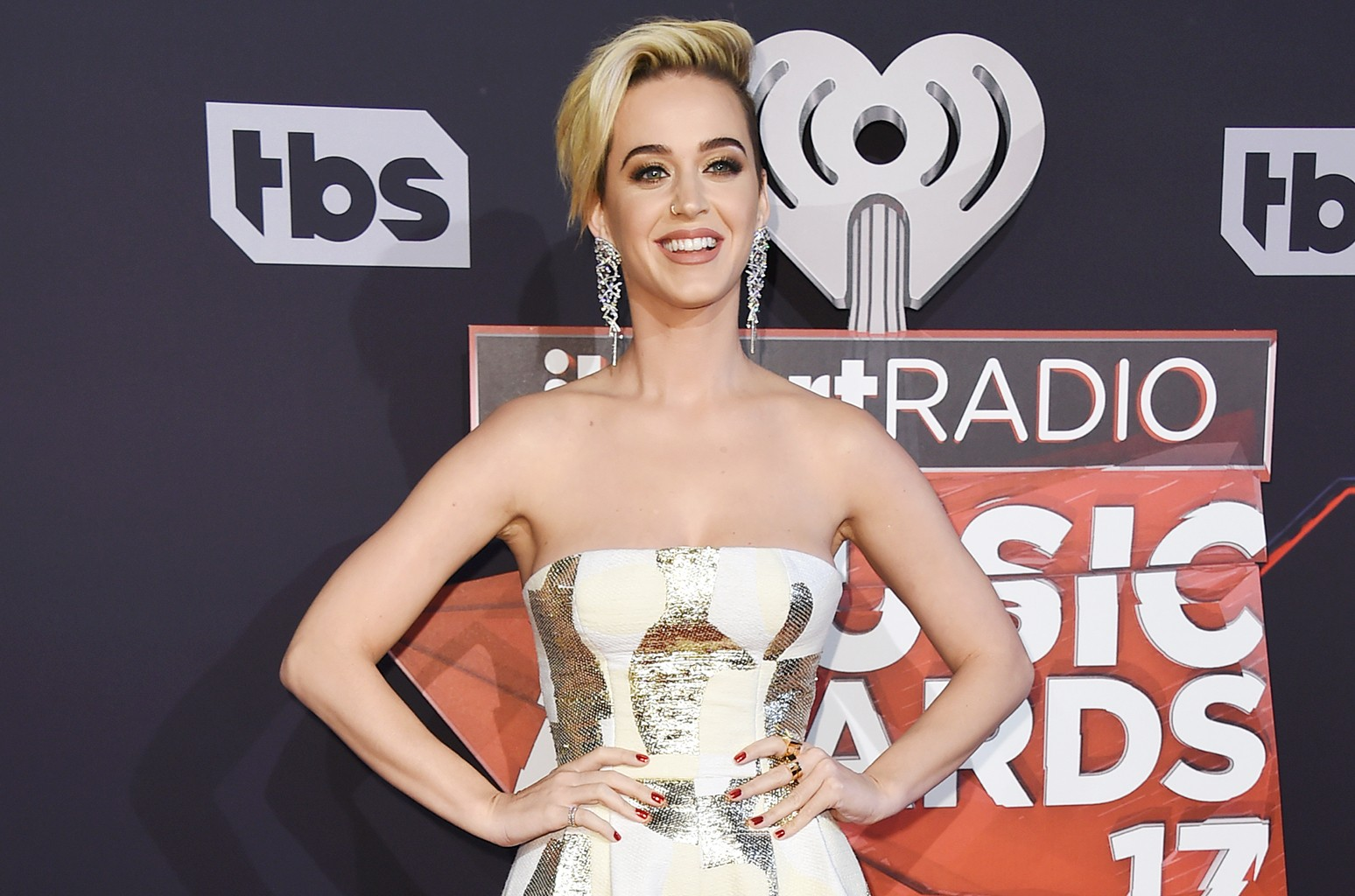 Katy Perry arrives at the iHeartRadio Music Awards at the Forum on March 5, 2017 in Inglewood, Calif.