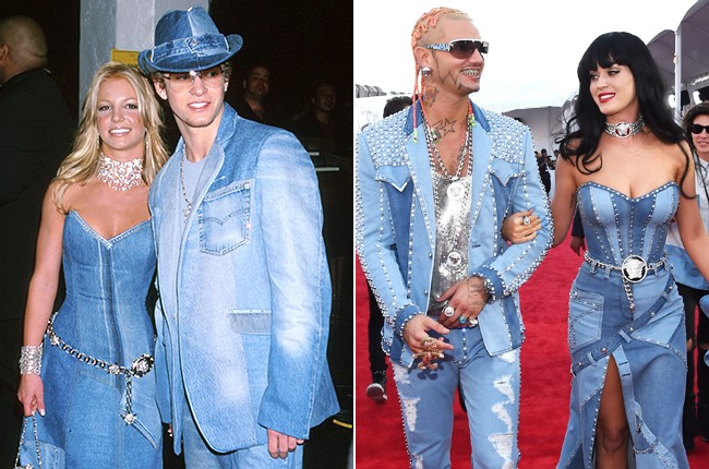Katy Perry S All Denim Ensemble Is A Britney Spears Justin Timberlake Throwback Billboard