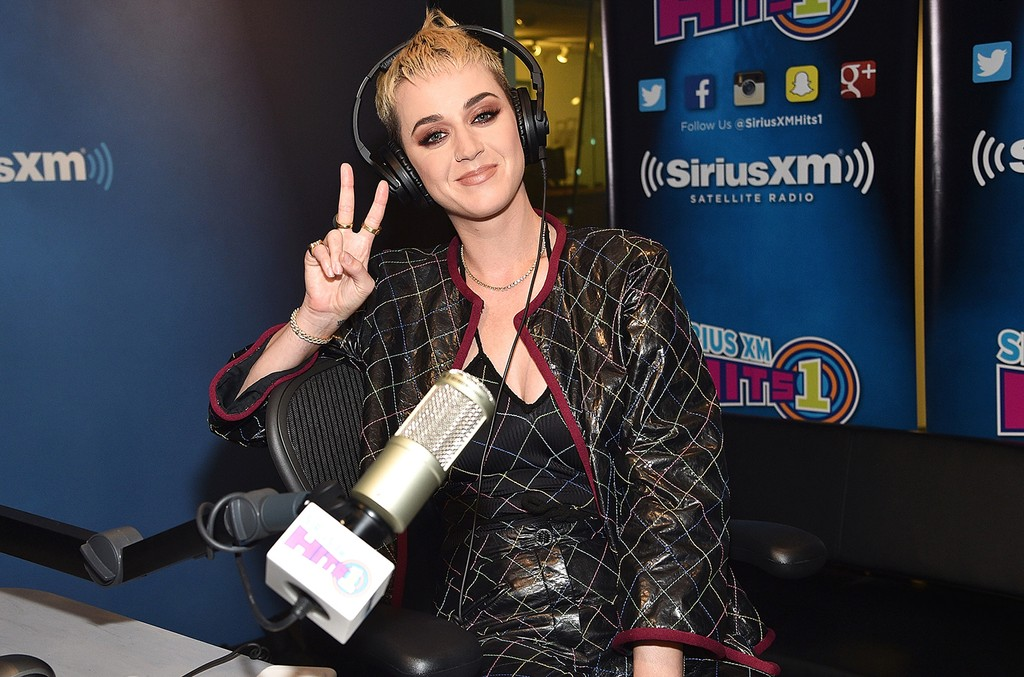 Katy Perry visits 'The Morning Mash Up' on SiriusXM Hits 1 channel at The SiriusXM Studios on May 23, 2017 in New York City.