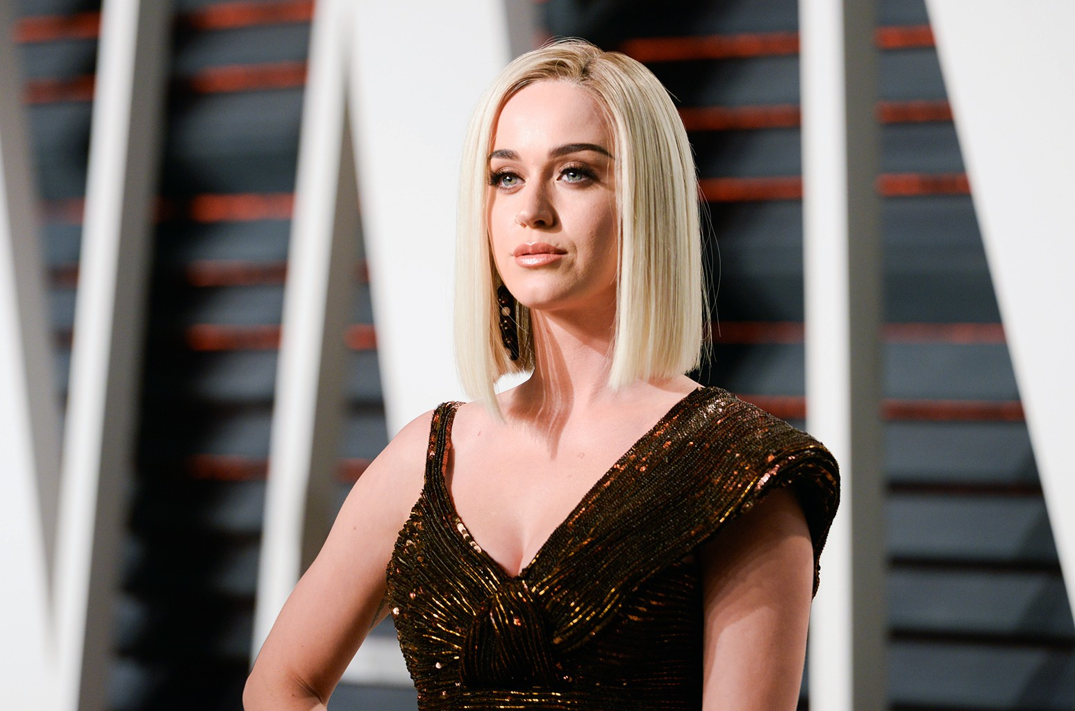 Katy Perry attends the 2017 Vanity Fair Oscar Party hosted by Graydon Carter at Wallis Annenberg Center for the Performing Arts on Feb. 26, 2017 in Beverly Hills.