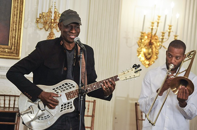 """Keb' Mo' and Trombone Shorty perform during the """"A Celebration Of Song: In Performance At The White House Student Workshop"""""""