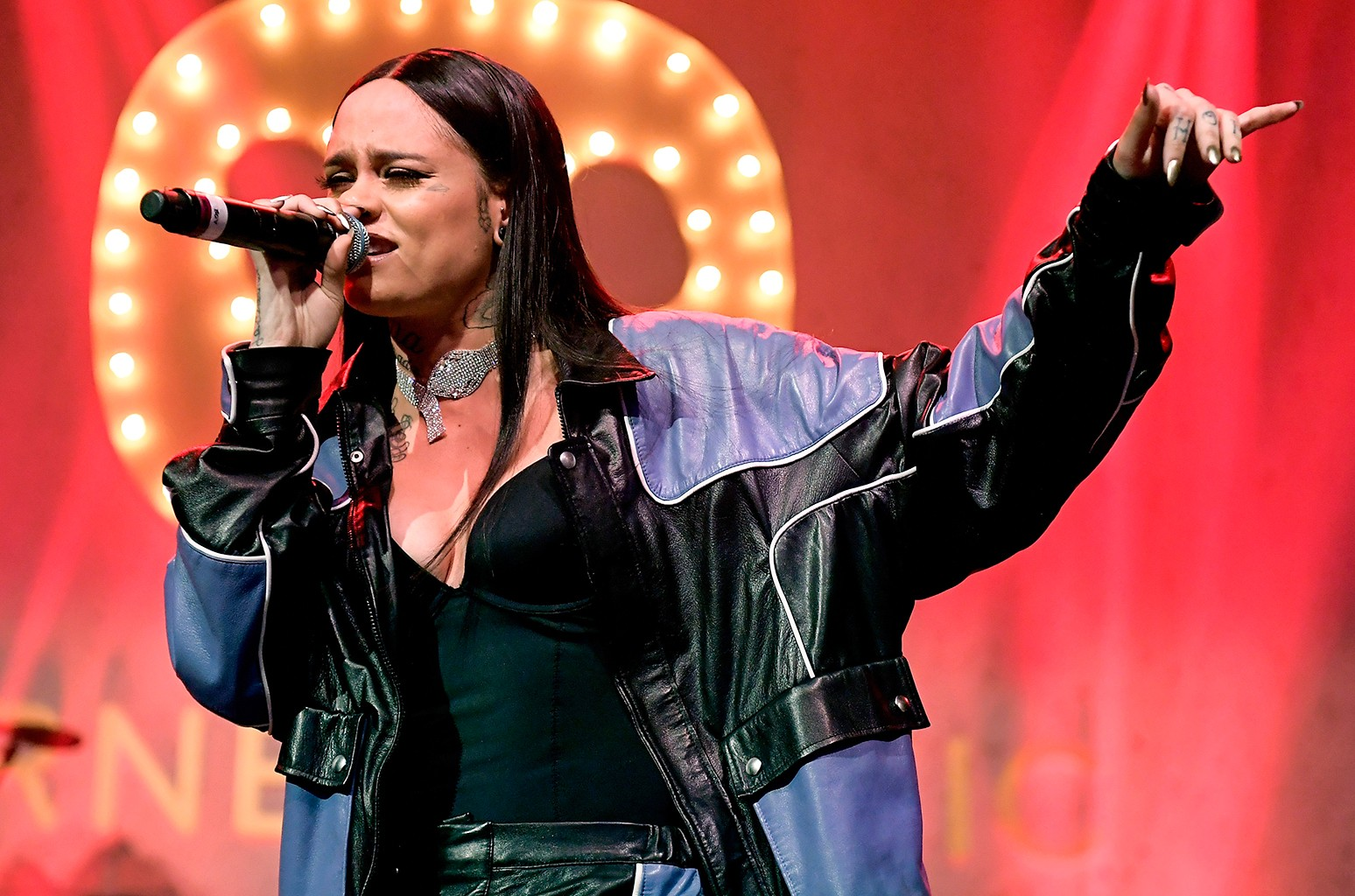 Kehlani performs at the Warner Music Group Grammy Party at Milk Studios on Feb. 12, 2017 in Hollywood, Calif.