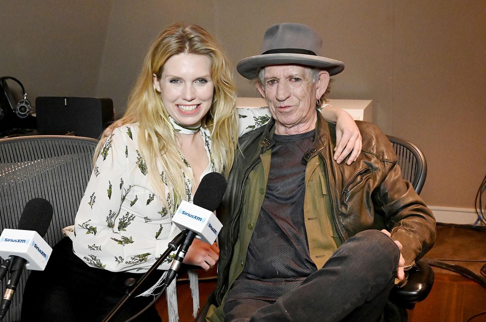 Keith Richards & daughter Theodora