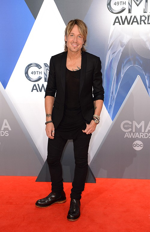 Keith Urban attends the 49th annual CMA Awards