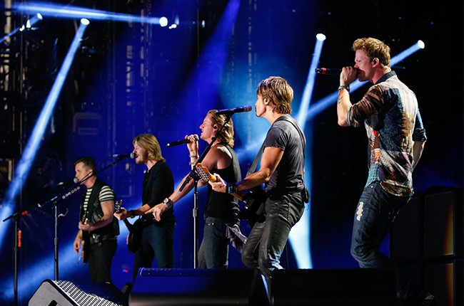 Florida Georgia Line performs with Keith Urban at the CMA Music Festival