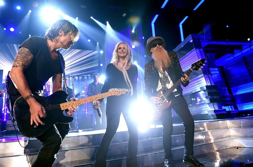 Keith Urban, Miranda Lambert and Billy Gibbons at the ACMS
